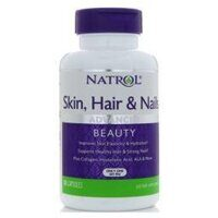 Natrol Skin Hair Nails W/ Lutein 60 caps.