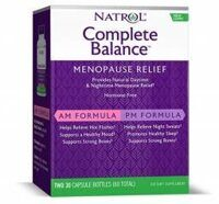 Natrol Complete Balance for menopause AM& PM formula 60 caps.