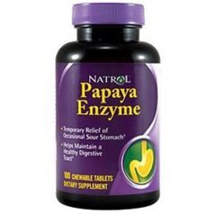 Natrol Papaya Enzyme 100 жев. тав.