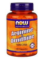 NOW Arginine & Ornitine 100 caps.