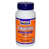 Now Taurine 500 mg. 100 caps.