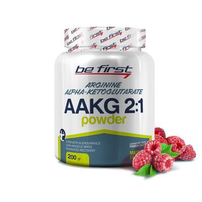 Be First AAKG 2 :1 powder 200 g. малина