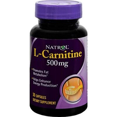 Natrol L- Carnitine 500 mg. 30 caps.