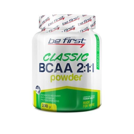 Be First BCAA 2:1:1 Classic powder 200 g. (виноград)